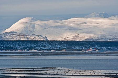 Panorama Blick auf norwegische Winterlandschaft