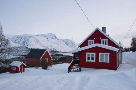 Urlaub in einer norwegischen Finca  am Fjord